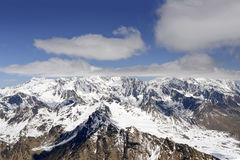 Spring snow on Cevedale mountain range, Italy Royalty Free Stock Photography