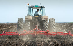 Spring soil preparation Stock Image