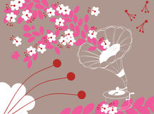 Spring song. Abstract vector illustration of spring song Royalty Free Stock Photo