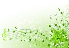 Spring song background stock illustration