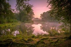 Spring source lake at sunrise Royalty Free Stock Image