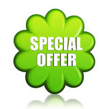 Spring special offer green flower label Stock Photos