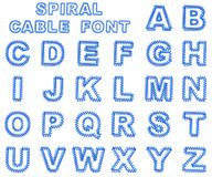 Spring, spiral cable font collection Stock Photo