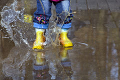 Spring Splashing Stock Photo