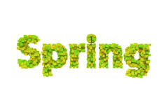Spring. Spring theme quilling letter from quilling fonts collection. Hello spring. Calligraphy lettering vector illustration