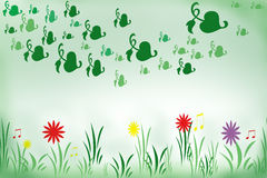 Spring, springtime in meadow Royalty Free Stock Photography