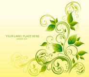 Spring sprout with foliage. Abstract background wi stock illustration