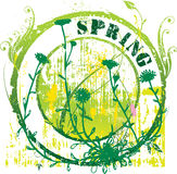 Spring stamp. Abstract grunge rubber stamp shape with the word spring Stock Photography