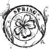 Spring stamp. Abstract grunge rubber stamp shape with the word spring Royalty Free Stock Image