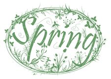 Spring stamp Royalty Free Stock Images