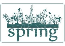 Spring stamp Royalty Free Stock Photography