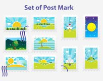 Spring stamps Stock Image