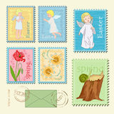 Spring stamps Stock Images