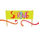 Spring start banner Stock Image