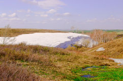 The Spring Steppe and creek Royalty Free Stock Image