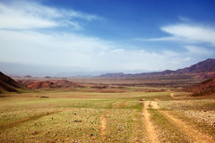 Spring steppe in Kazakhstan Stock Photo