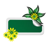 Spring sticker Stock Photography