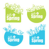 Spring stickers Stock Photo