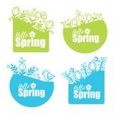 Spring stickers Stock Photo
