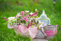 Spring still life in the garden Royalty Free Stock Photography