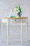 Spring still life on vintage table Stock Photography