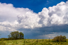 Spring storm front of  cumulonimbus clouds Royalty Free Stock Photography