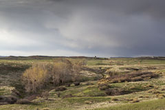 Spring storm over Colorado ranch Royalty Free Stock Photography