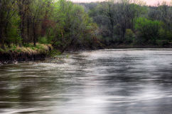 Spring storm over the Des Moines river Stock Image