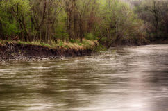 Spring storm over the Des Moines river Royalty Free Stock Photo