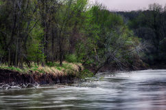 Spring storm over the Des Moines river Royalty Free Stock Image