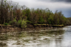 Spring storm over the Des Moines river Royalty Free Stock Images
