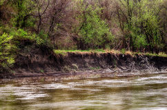 Spring storm over the Des Moines river Royalty Free Stock Photography