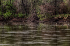 Spring storm over the Des Moines river Royalty Free Stock Photos