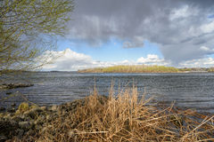 Spring Storm Over the River Royalty Free Stock Photos