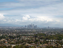 Spring storms in Los Angeles Royalty Free Stock Image