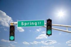 Spring Street Royalty Free Stock Image