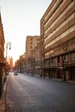 Spring street in old colonial part of Mexico city Stock Image