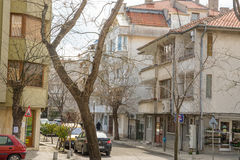 Spring streets in the Bulgarian city of Pomorie Royalty Free Stock Photos