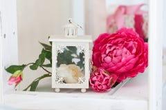 Spring studio decor, light home decor. Romantic interior for a spring session stock photos