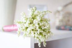 Spring studio decor, light home decor. Romantic interior for a spring session royalty free stock photos
