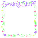Spring stuff scrapbook Stock Images