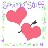 Spring stuff scrapbook Stock Photos