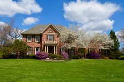Spring in Suburbia Stock Photography