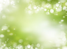 Spring or summer abstract background with bokeh lights. Spring or summer season abstract nature background with grass and blue sky in the back Royalty Free Stock Photography
