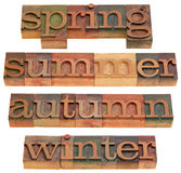Spring, summer, autumn and winter Stock Image