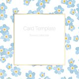 Spring summer card template forget-me-not flowers royalty free illustration