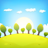 Spring Or Summer Cartoon Landscape Stock Photography