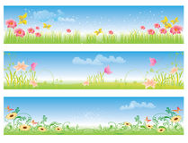 Spring summer color banner illustration  Royalty Free Stock Images