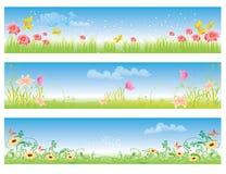 Spring summer color banner illustration  Royalty Free Stock Images