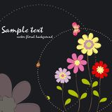 Spring summer colorful floral with butterfly Stock Image